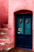 Pink Walls and Blue Door - Collioure